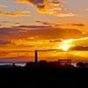 Midsummer Sunset behind Calton