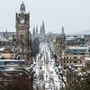 Snowy Princes Street Portrait