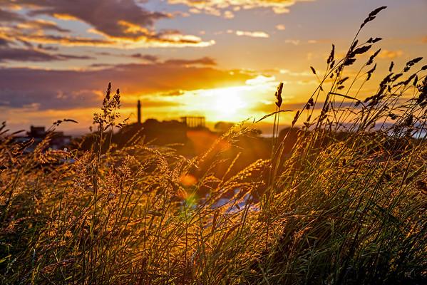 Golden Sunset behind Calton