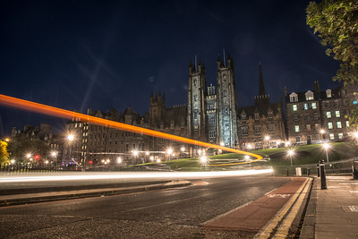 Light Trails in front of New College