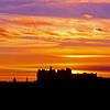 Castle and Church Silhouette