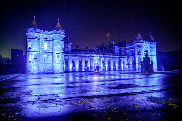 Blue Holyrood Palace, St Andrew's Day