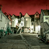 Crimson Sky over White Horse Close