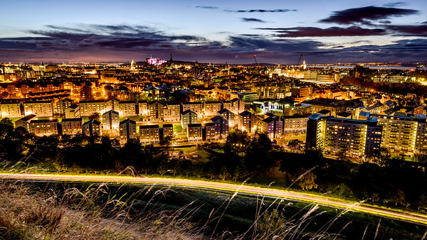 Golden Evening in Edinburgh