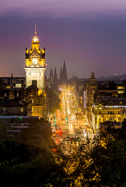 Down Princes Street at Night