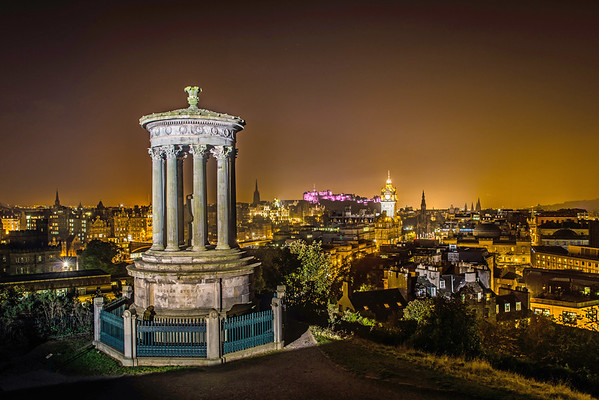 Night- time Dugald Stewart Monument (Illuminated)