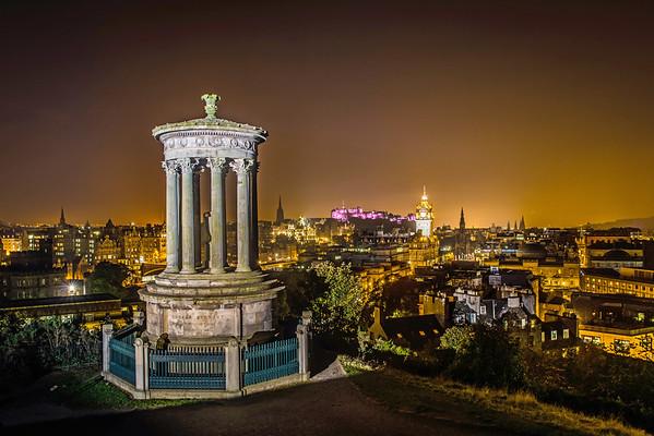 Night- time Dugald Stewart Monument (Illuminated)