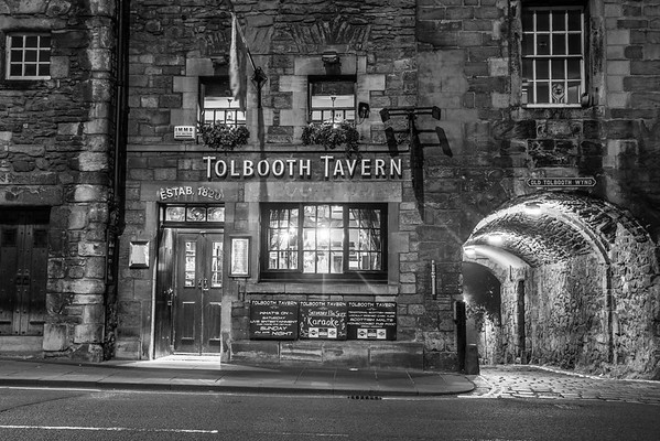 Tolbooth Tavern (Black and White)