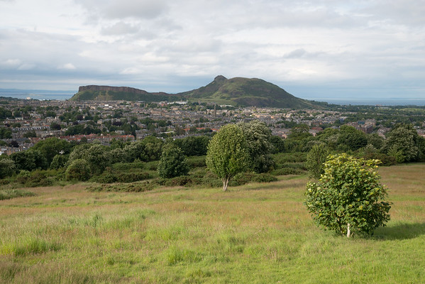 Looking across to Arthur's Seat from Blackford Hill
