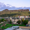 Canongate Kirk and Holyrood Park behind