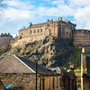 Edinburgh Castle from the Vennel on a sunny day