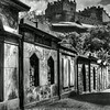 View of Edinburgh Castle from cemetery