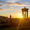 Sunset behind the Dugald Stewart Monument, Calton Hill