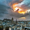 Fire in the Skies above Edinburgh