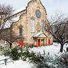 Snow at Canongate Kirk