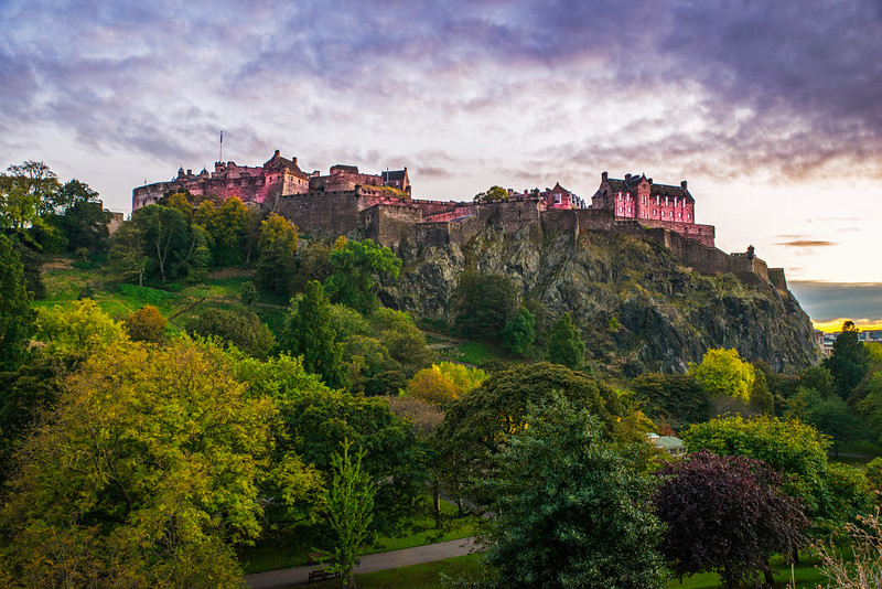 Pink Castle from Princes Street