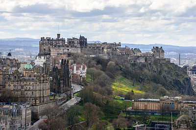 Edinburgh Castle from the Nelson Monument