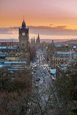 Looking down Princes Street