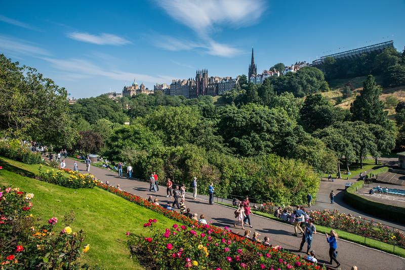 Summer in Edinburgh 2015 - Princes' Street Gardens