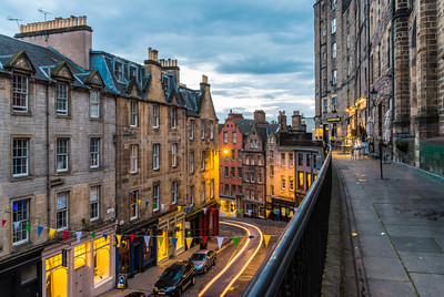 An evening on Victoria Terrace