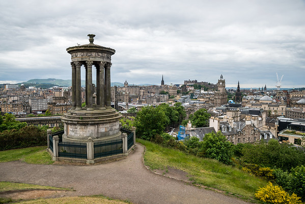 An overcast summer's day on Calton Hill