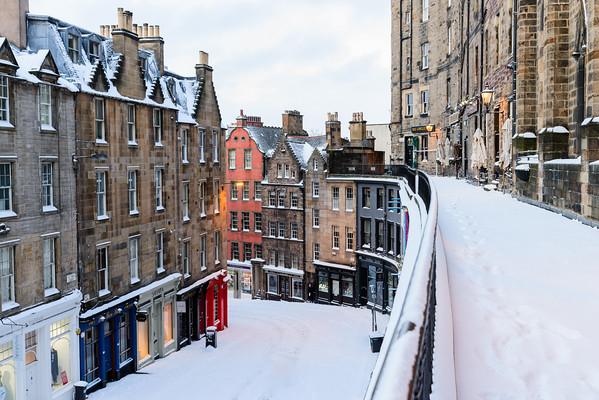 Snow-covered Victoria Street