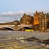Evening light on Waverley Station