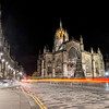 Light Trails past St Giles' Cathedral