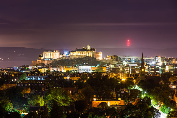 Edinburgh Castle from Blackford Hill