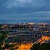 Edinburgh and Leith at night