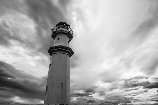 Dramatic skies at Newhaven