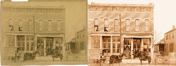 Advanced service: Restore faded and torn photo