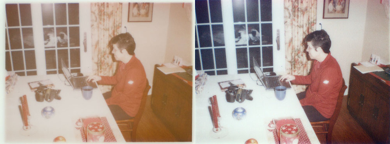 Basic service: Enhancement of Kodak Instant photo shot on 25-year-old film.