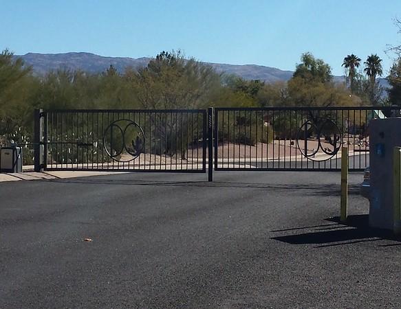 HOA Dual swing gate with operators