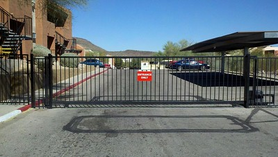 Apartment Complex Slide Gate with Operator