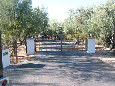 Residential Dual Swing Gate with Phone System & Operator