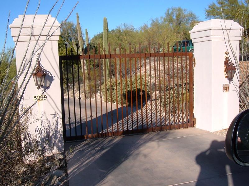 Single swing residential gate