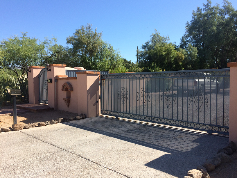 Single Slide gate & Pedestrian Gate