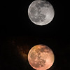 Full Wolf Moon (before and after)