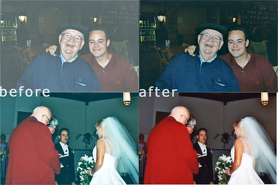 Some basic fixes to some pretty wildly exposed print-scanned pictures.