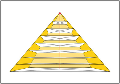 02 Blick in das Innere der Pyramide aus vermessungstechnischer Sicht.