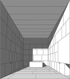 03 Blick vom Eingang der Königskammer Richtung Westen auf den Sarkophag.