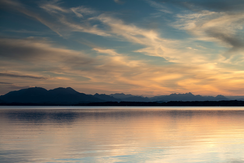 Sonnenuntergang am Chiemsee