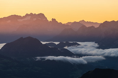 Tagesanbruch am Gipfel