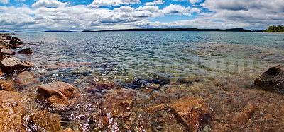 Lake Superior (Panorama) 22x47 inches, laminated metallic  photo paper float mounted on aluminum. $2070.00, 2/10