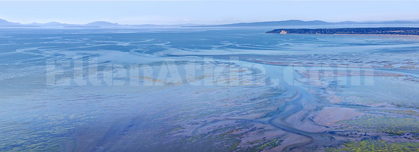Boundary Bay (Aerial Panorama) 24x66  inches, laminated metallic  photo paper float mounted on aluminum. $2,700.00 2/10