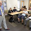 Guest speaker at the Boy's & Girl's Club of Fitchburg and Leominster's Career Launch Class was Editor of the Sun and Sentinel & Enterprise Jim Campanini who talked to the students about his life and how he started out in the newspaper business on Wednesday afternoon at the club. SENTINEL & ENTERPRISE/JOHN LOVE