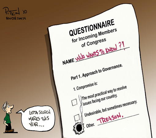 Nov. 9, 2010 Editorial Cartoon<br /> Hap Pitkin<br /> Dailycamera.com, Boulder, CO