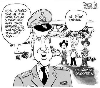 May 16, 2009 Hap Pitkin Editorial Cartoon - DailyCamera.com Boulder, CO Pinyon Canyon