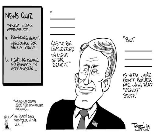 Oct. 20, 2009<br /> Hap Pitkin Editorial Cartoon<br /> Dailycamera.com Boulder, CO
